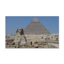 Sphinx and Pyramids Rectangle Car Magnet