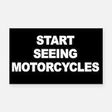 Start Seeing Motorcycles Rectangle Car Magnet