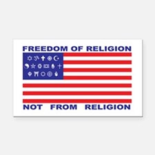 Freedom of Religion Rectangle Car Magnet