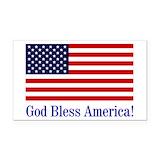 "God bless america 3"" x 5"""
