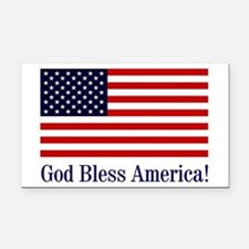 God Bless America Rectangle Car Magnet