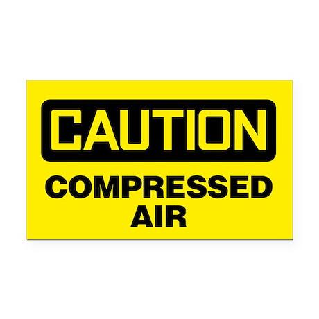 Caution: Compressed Air Rectangle Car Magnet