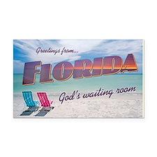Florida God's Waiting Room - Rectangle Car Magnet