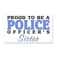 Officer's Sister Rectangle Car Magnet
