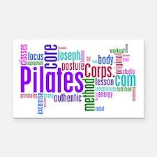 Pilates Corps Logo Rectangle Car Magnet