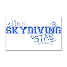 Skydiving star Rectangle Car Magnet