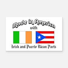 Irish-Puerto Rican Rectangle Car Magnet