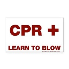 CPR + Rectangle Car Magnet