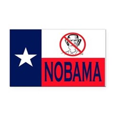 Nobama Texas Rectangle Car Magnet