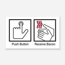 Cool Receive bacon Rectangle Car Magnet