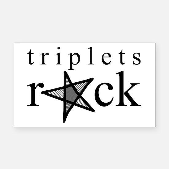 Triplets ROCK Rectangle Car Magnet
