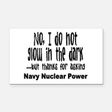 Navy Nuclear Power Rectangle Car Magnet