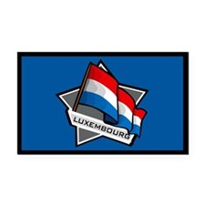 """Luxembourg Star Flag"" Rectangle Car Magnet"