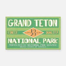 Grand Teton National Park (Retro) Rectangle Car Ma