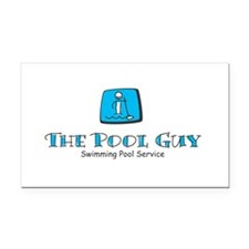 The Pool Guy Rectangle Car Magnet