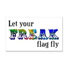 Freak Flag Rectangle Car Magnet