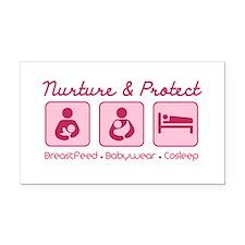 Funny Breastfeeding Rectangle Car Magnet