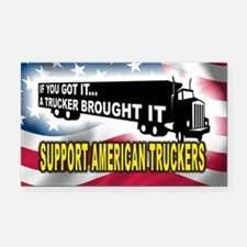 Support American Truckers -Rectangle Car Magnet