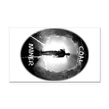 Coal Miner Rectangle Car Magnet