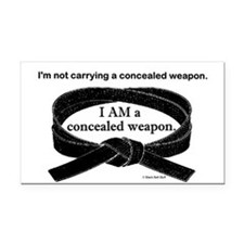 Concealed Weapon Rectangle Car Magnet