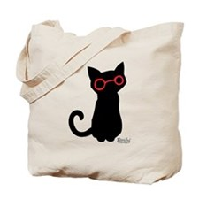 Nerdy Kitty Tote Bag