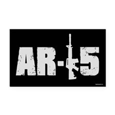 AR-15 Rectangle Car Magnet