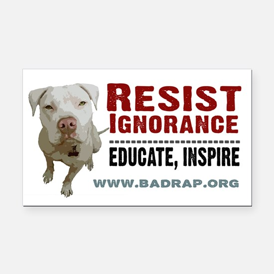 Resist Ignorance Rectangle Car Magnet