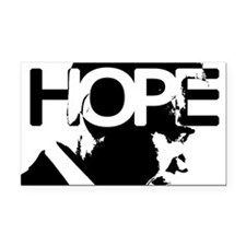 Obama HOPE Rectangle Car Magnet