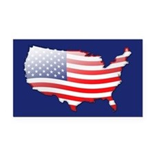 """United States Bubble Map"" Rectangle Car Magnet"
