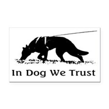 dogwetrust Rectangle Car Magnet