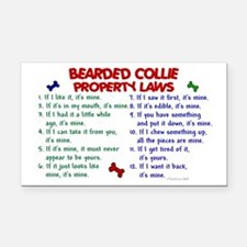 Bearded Collie Property Laws 2 Rectangle Car Magne
