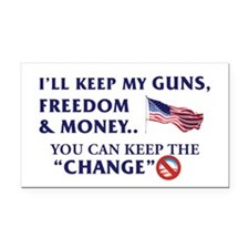 Keep Guns, Freedom & Money Rectangle Car Magne