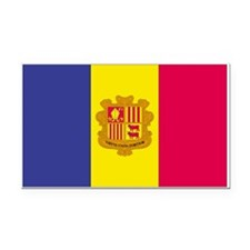 Andorra Rectangle Car Magnet