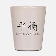 Chinese Symbol for Balance Shot Glass
