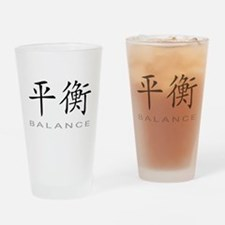 Chinese Symbol for Balance Drinking Glass
