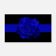 PoliceWives Blue Rose Blueline Rectangle Car Magne