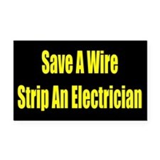 Save a wire Rectangle Car Magnet