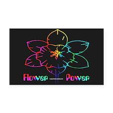 Flower Power Rectangle Car Magnet