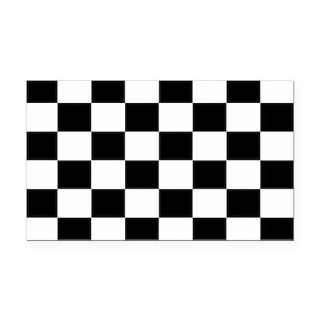 Checkered Flag Rectangle Car Magnet