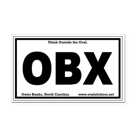 Think Outside the Oval OBX Parody Rectangle Car Ma