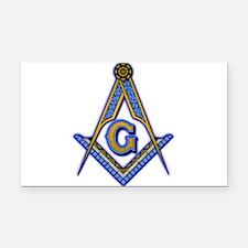 Cute Masonic Rectangle Car Magnet