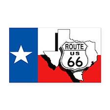 Rt 66 Texas Rectangle Car Magnet