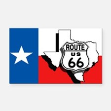 Rt 66 Texas Rectangle Car Magnet