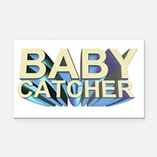 Baby catcher - for midwives - Rectangle Car Magnet