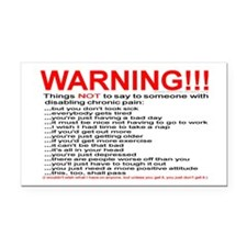 Pain Warning Rectangle Car Magnet