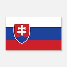 Slovakia Flag Rectangle Car Magnet