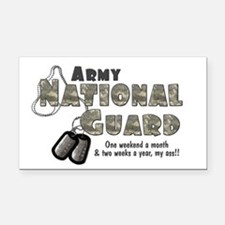 Cute Army national guard Rectangle Car Magnet