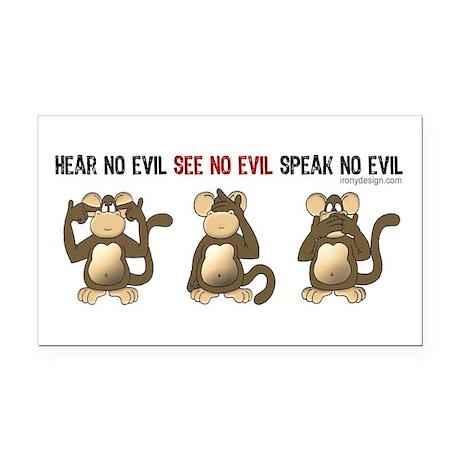 Hear No Evil... Rectangle Car Magnet