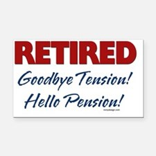 Retired: Goodbye Tension Hell Rectangle Car Magnet