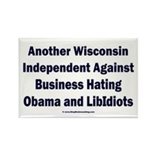 Wisconsin Independent Rectangle Magnet